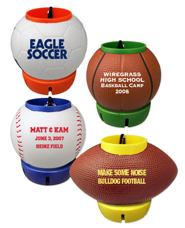 beverage holders - football, basketball, soccer ball, baseball and golf