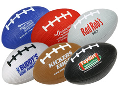 "3"" & 5"" Mini-Footballs Stress Balls,"