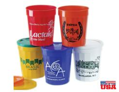Stadium Cups (12oz, 16oz, 22oz, & 32oz) Made in the USA - of Durable Plastic in up to 22 colors